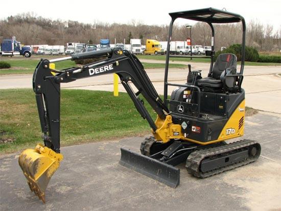 John Deere 17D Mini Excavator Rental