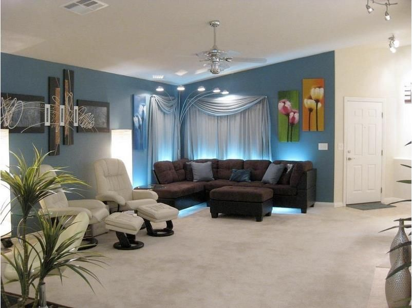 Place LED Lights Behind Couches Or Chairs Of Your Living Or Entertainment Room