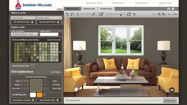 Sherwin Williams' Color Visualizer