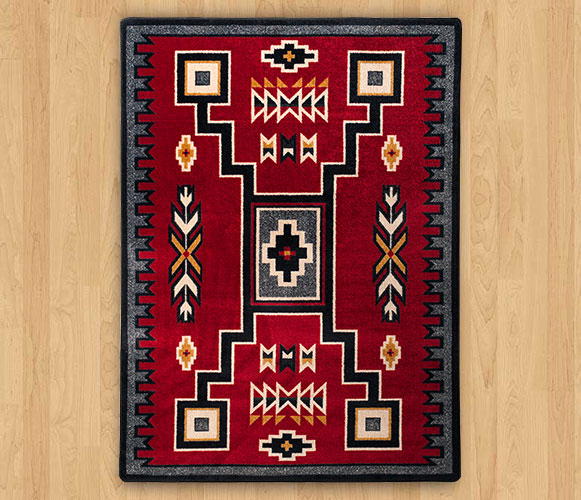 Old Crow Red Western Style Rug