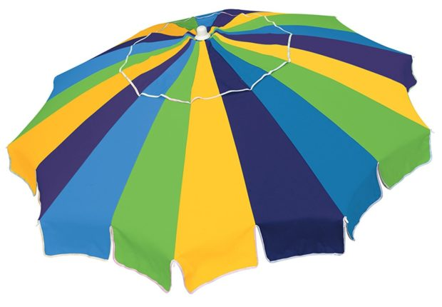 Rio Brands Beach Umbrella with Integrated Sand Anchor