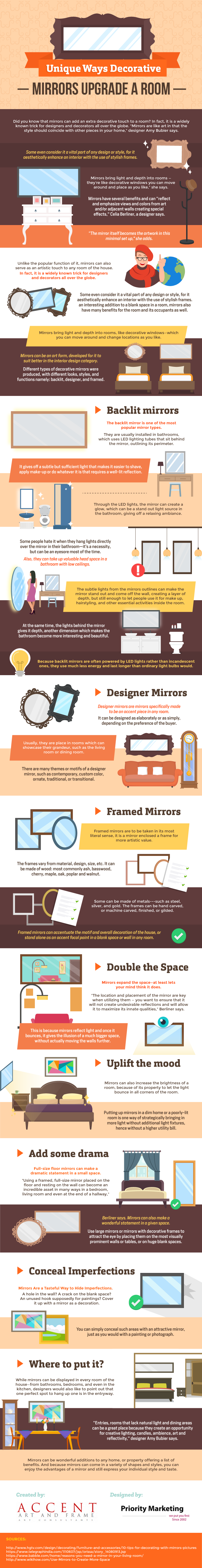 Unique Ways Decorative Mirror Upgrade A Room Infographic