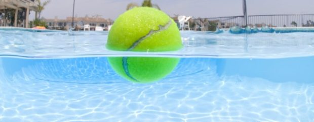 Use Tennis Balls as Skimmers