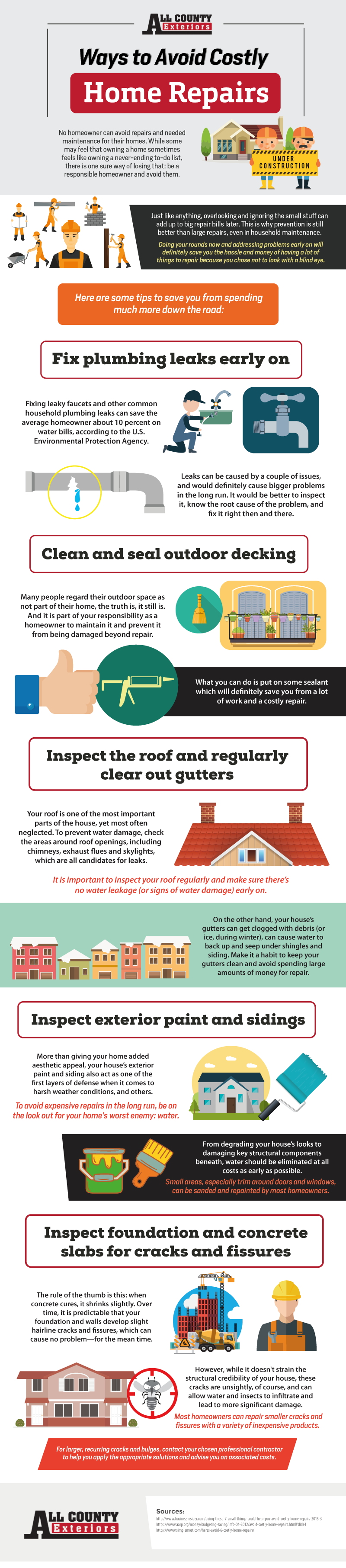 Ways To Avoid Costly Home Repairs Infographic