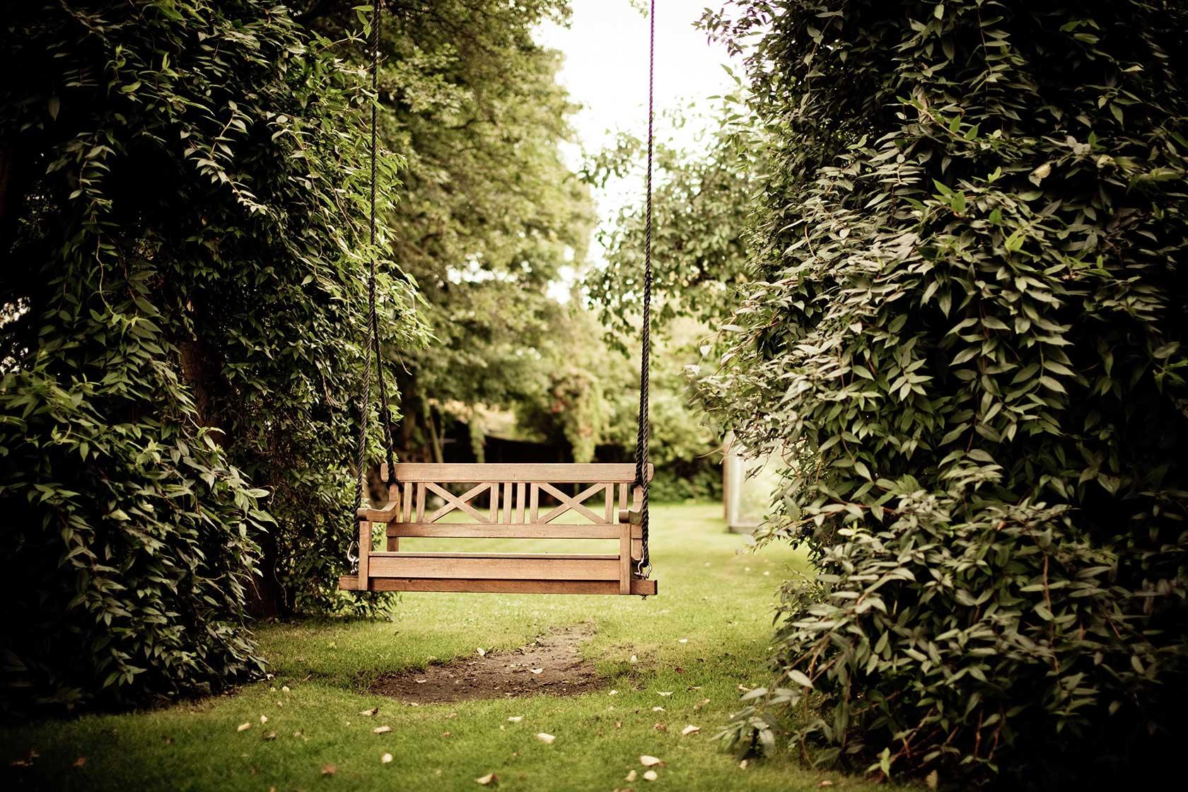 Elegant Wooden Outside Garden Benches