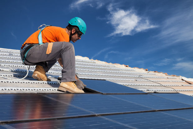 Rooftop Panel Installation