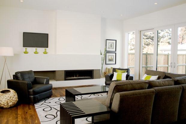 Splash Carpet In Modern Living Room
