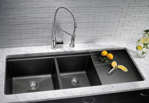 Metallic Kitchen Sink