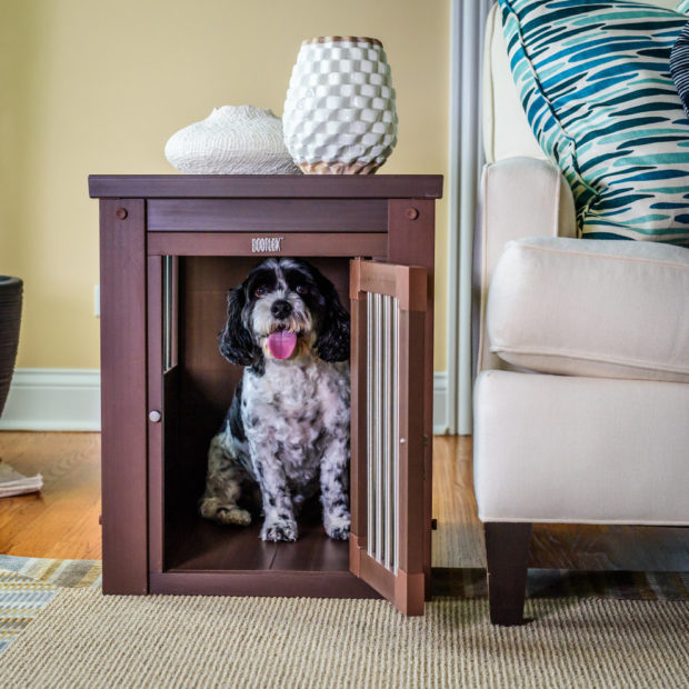 Dog Crate In Modern Living Room