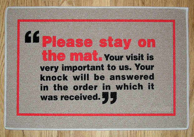 Doormat With Funky Message