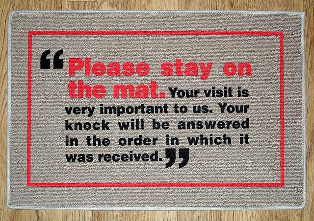 Doormat With Funky Message