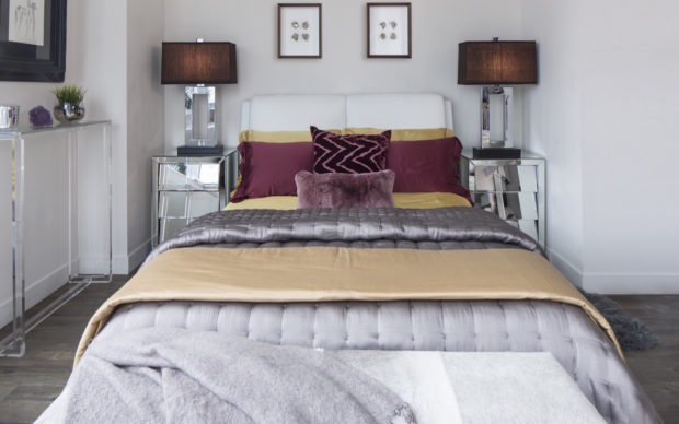 Gold And Silver Bed