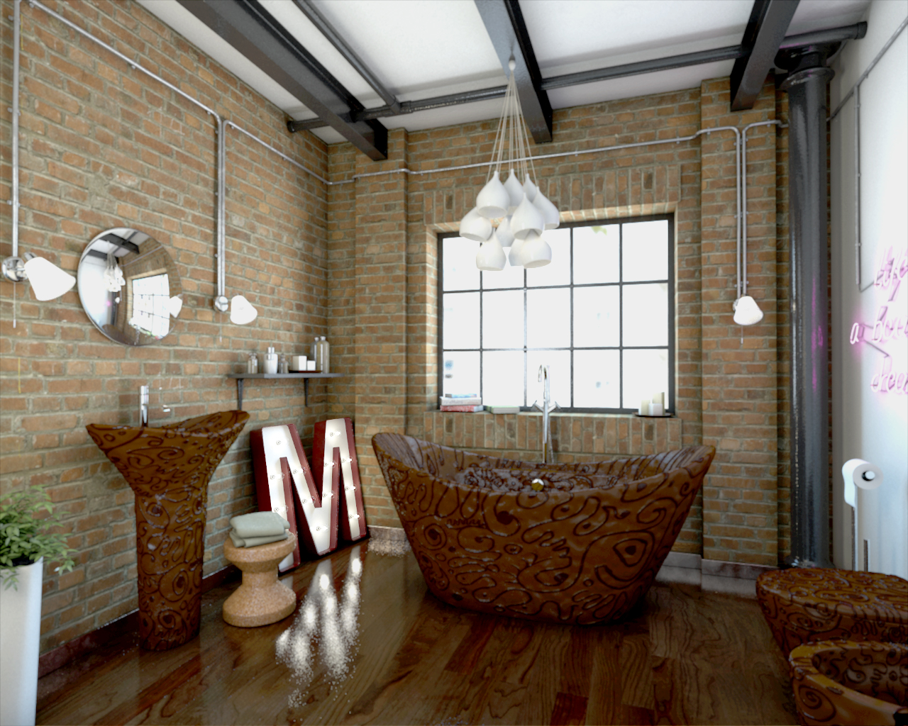Sweet Bathroom Design