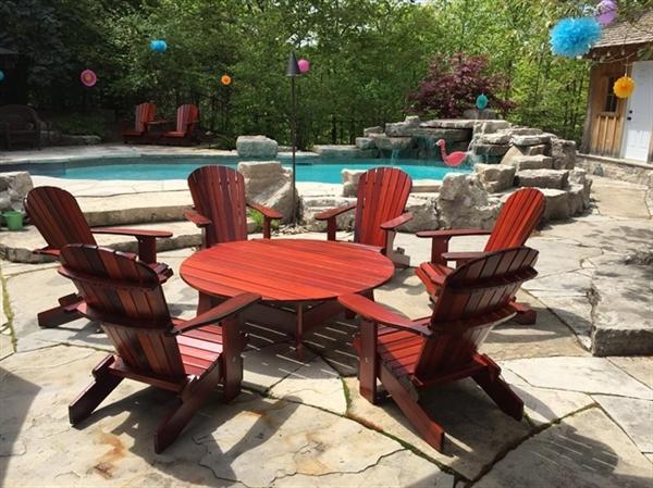 Beautiful Western Red Cedar Adirondack Chairs