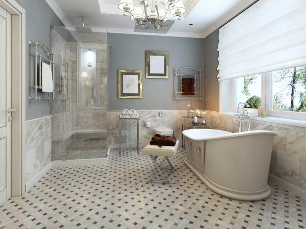 Brand New Sparkling Bathroom Floor