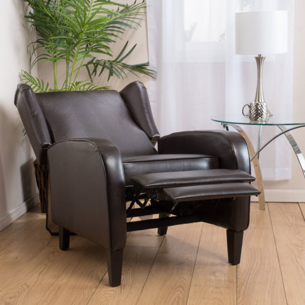 Leather Wingback Recliner Chairs