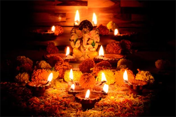 Ganpati Festival Decoration Lighting