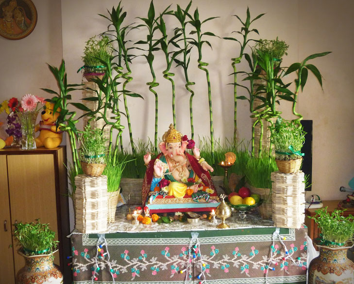 Eco Friendly Ganpati Decoration