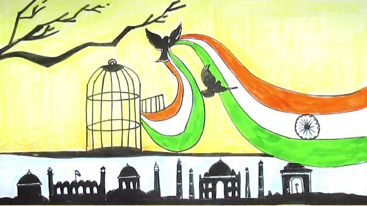 Indian Flag Painting Ideas Painting Inspired