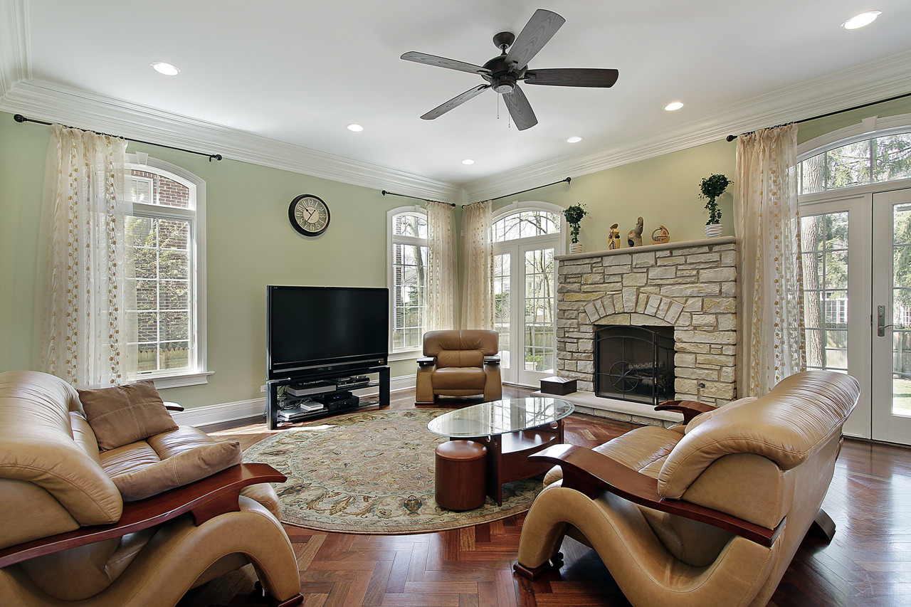 Round Area Rug In Room