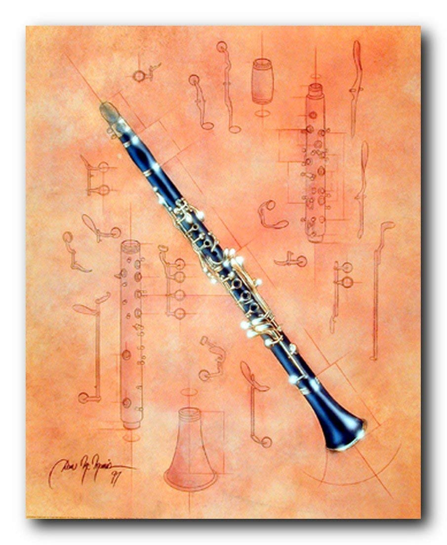 Fine Arts Musical Instrument Clarinet Dan Mcmanis Wall Decor Art Print Poster