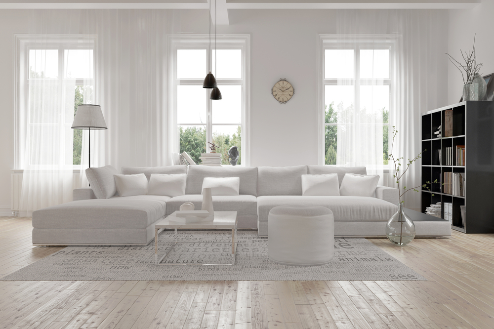 Stick With A Monochromatic Color In The Living Room
