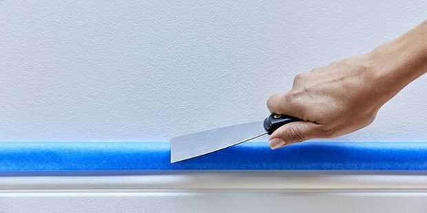 Use A Putty Knife To Press The Tape