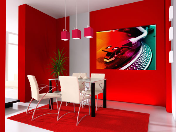 Red Dining Room Interior Design