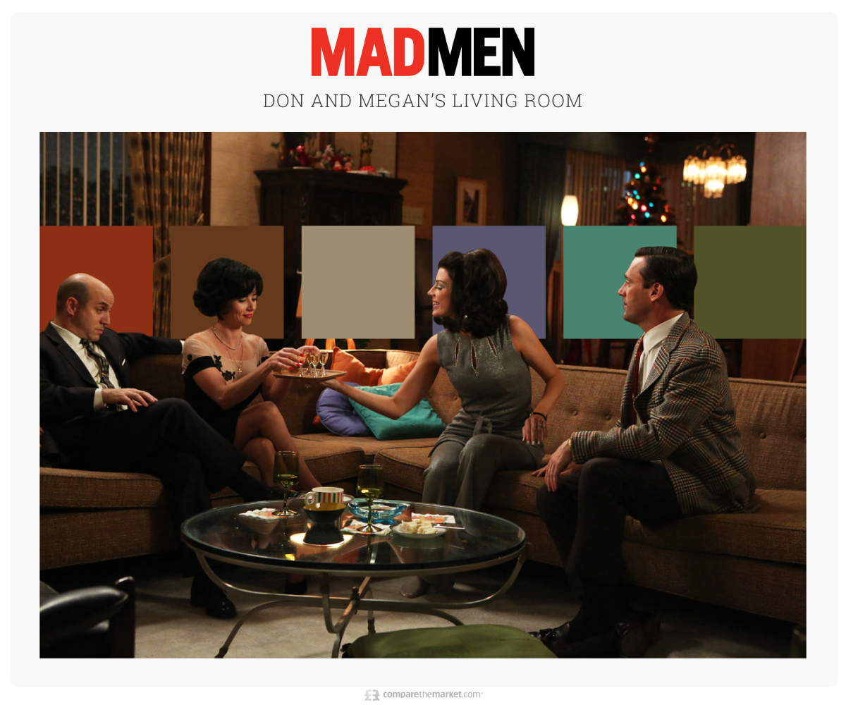 Mad Men - Don and Megan's Living Room