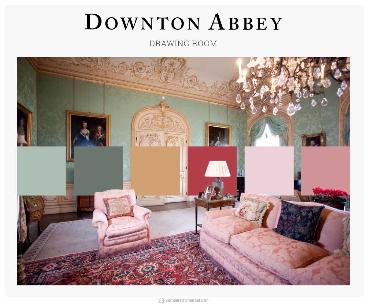 Downtown Abbey Drawing Room