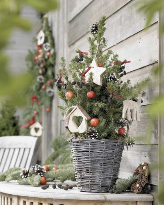 Christmas Wooden Buckets