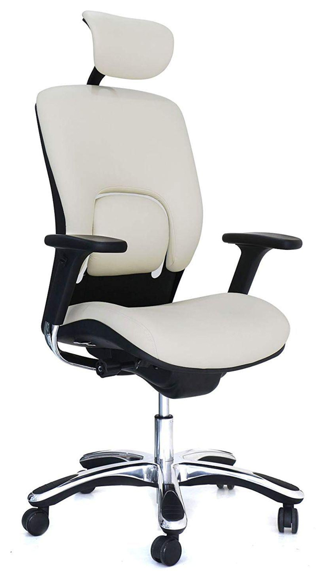 White Ergonomic Leather Chair