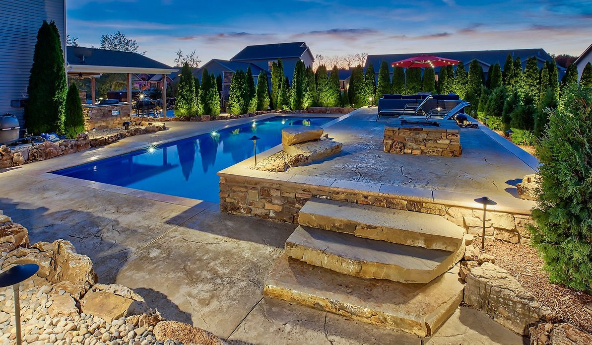 Beautiful Swimming Pool With Patio