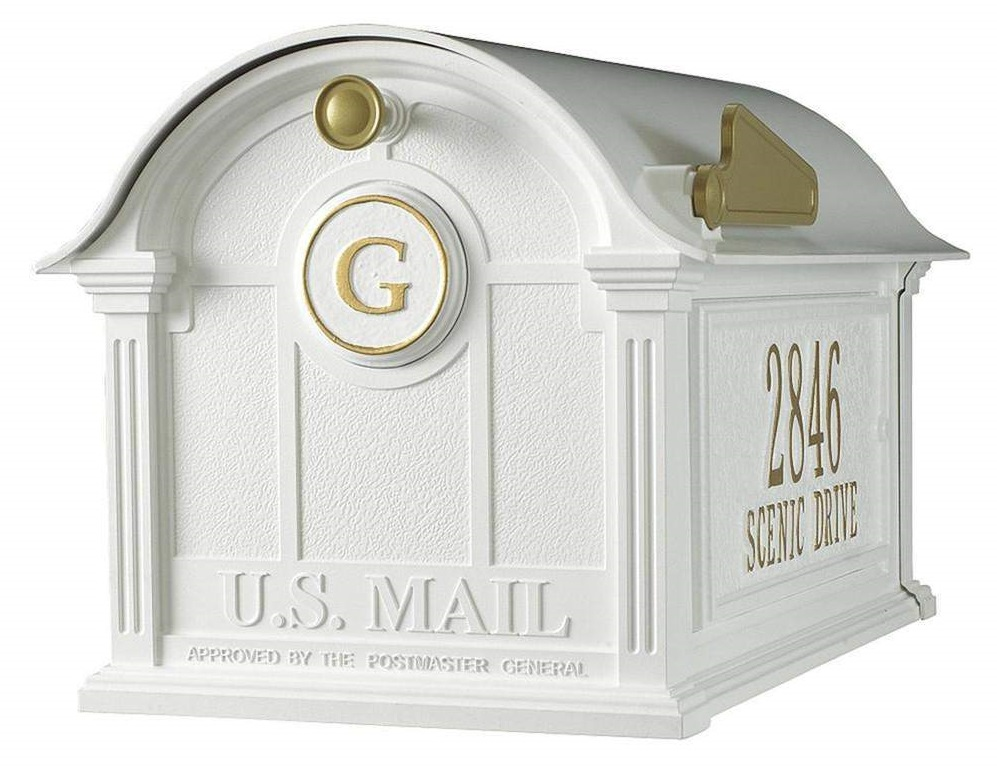 Whitehall Personalized Balmoral Post Mount Mailbox with Monogram