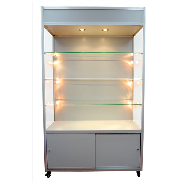 Glass Cabinet with Storage