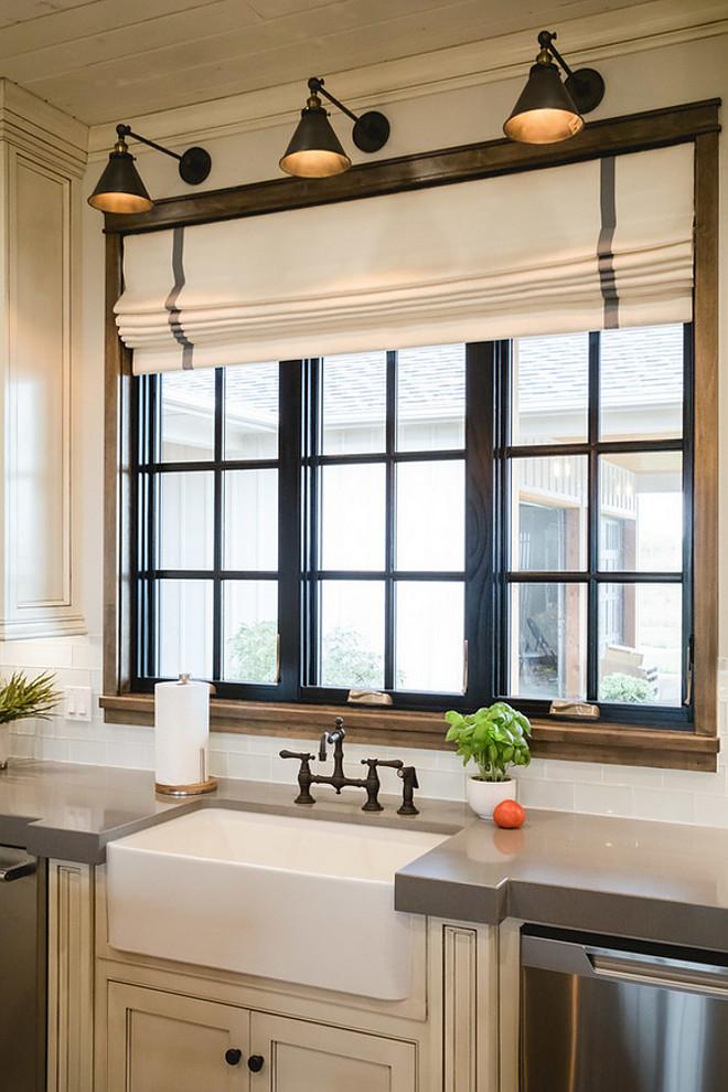 Black Kitchen Window