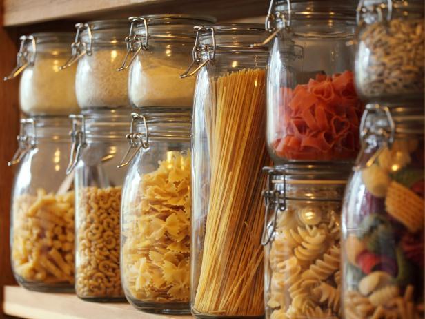 Dry Ingredients And Dry Foods In Swing Closure Jars