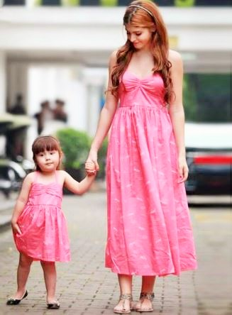 Casual Mother and Daughter Matching Maxi Dresses