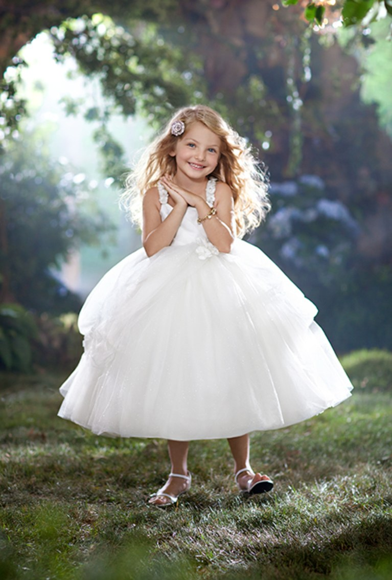 Hearts And Butterflies Dress For Flower Girl