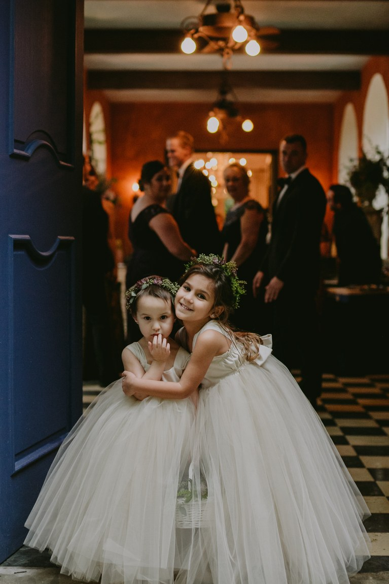 Old Fashioned Style Flower Girl Dresses