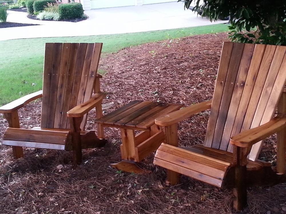 Oak wood adirondack chair