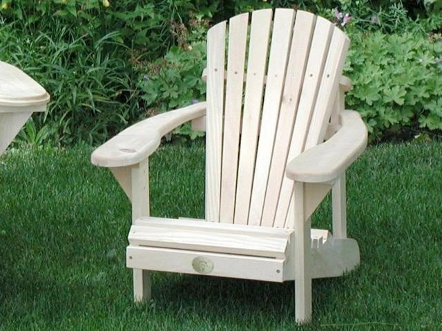 Pine wood adirondack chair