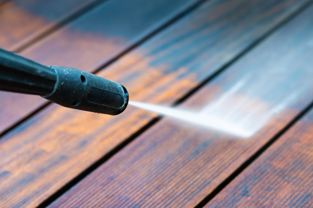 Power Wash The Pool Deck