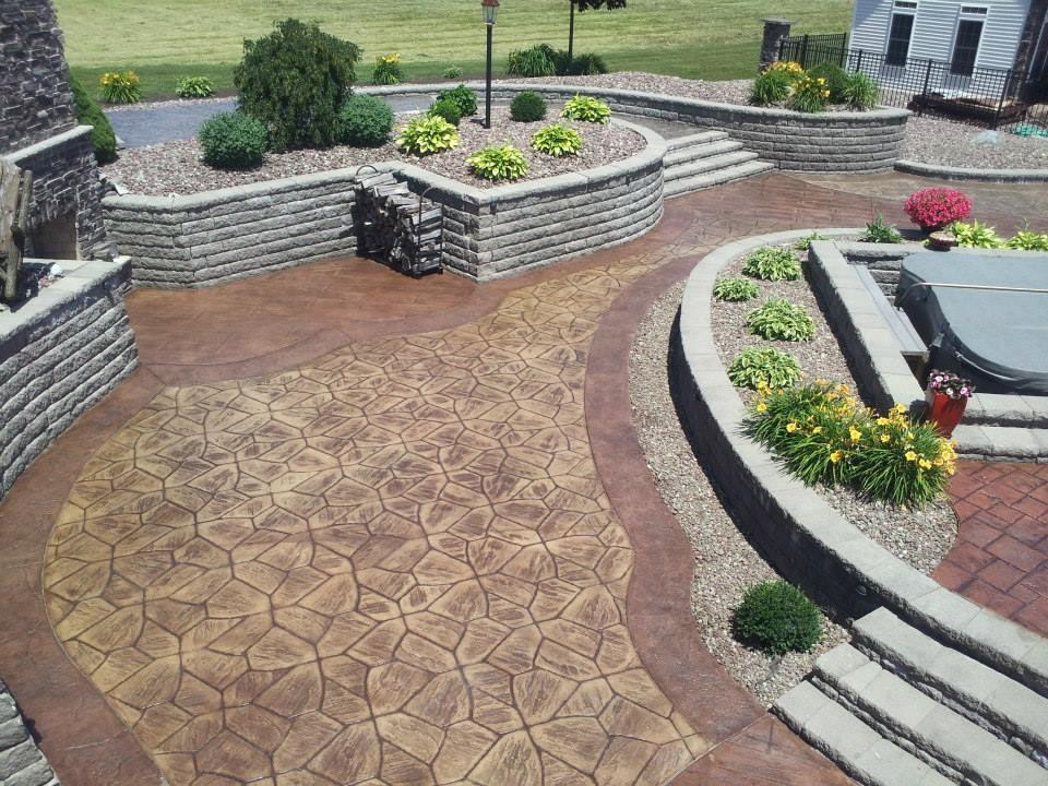 Precast Stamped Concrete Steps