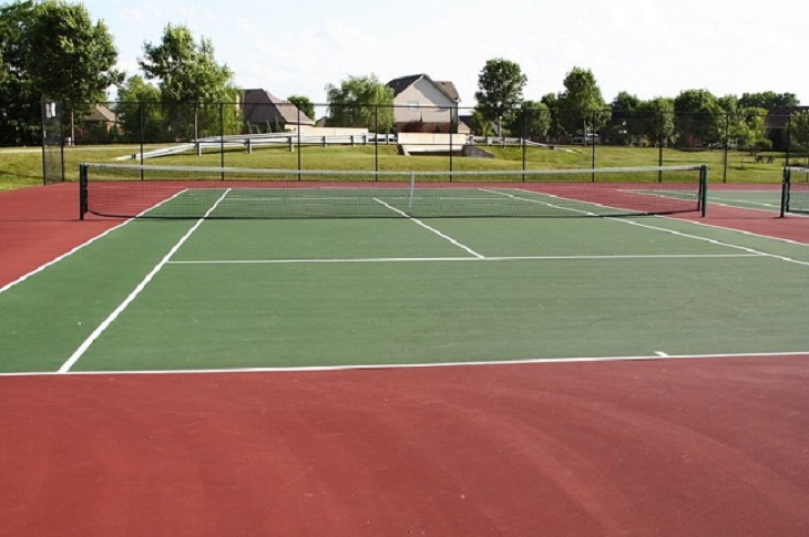 Asphalt Tennis Court