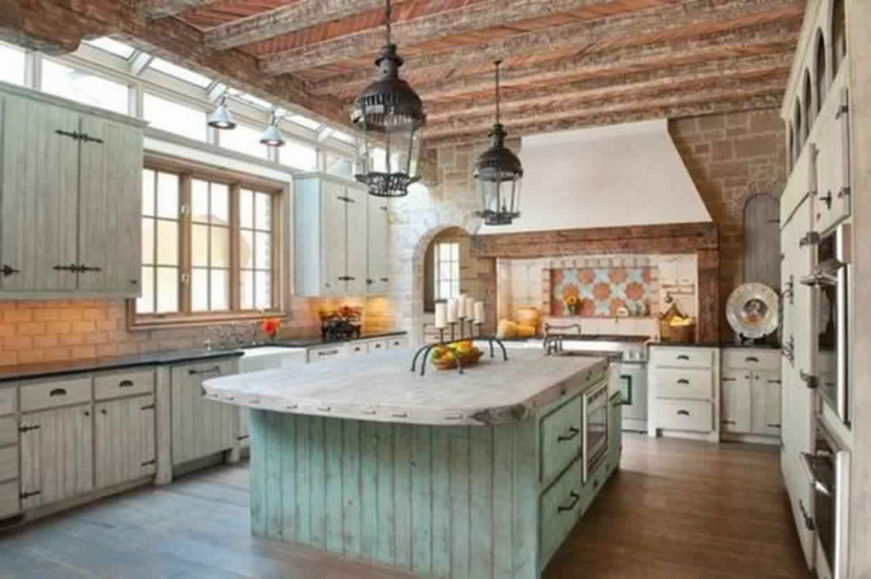 Spacious Kitchen Island
