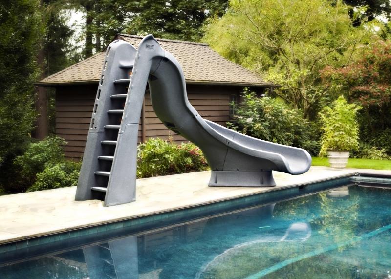 Slide In A Pool