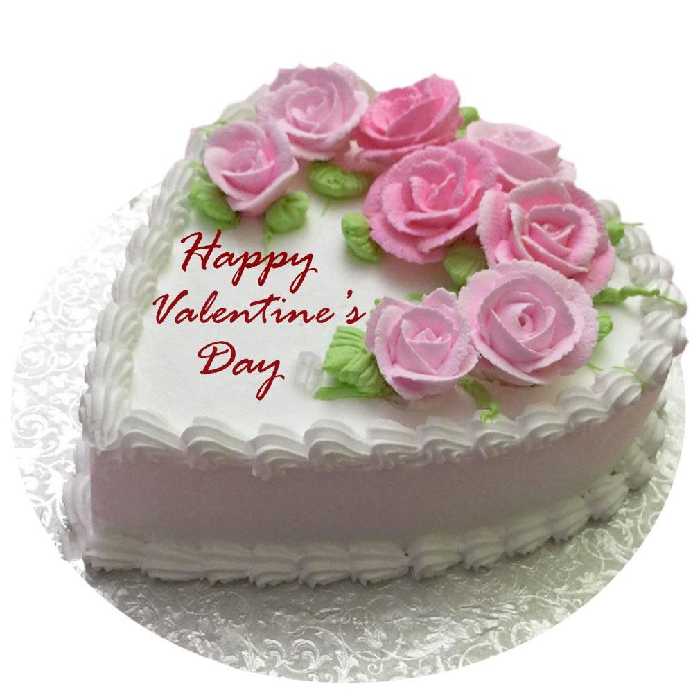 Valentines Day Flowery Vanilla Cake