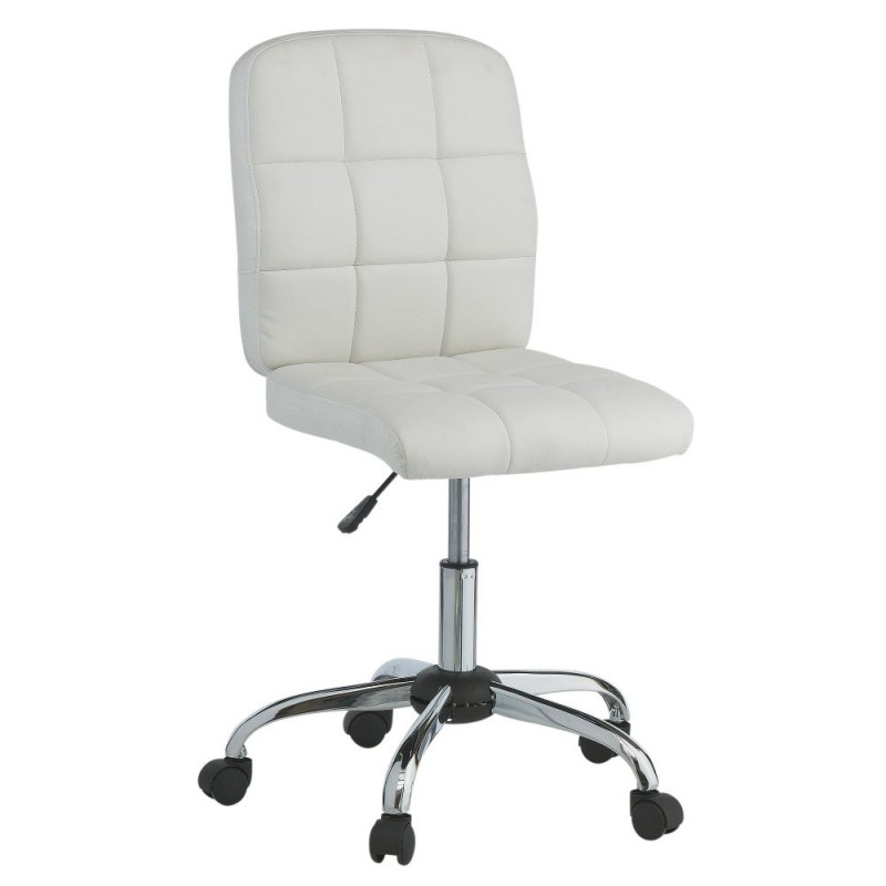 Leather White Office Chair