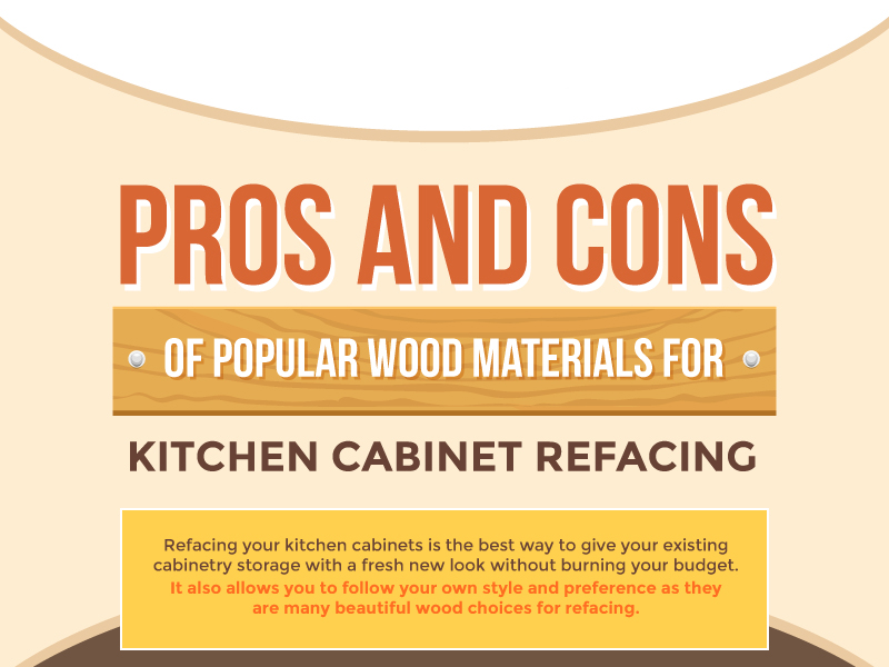 Pros and Cons of Popular Wood Materials For Kitchen Cabinet Refacing